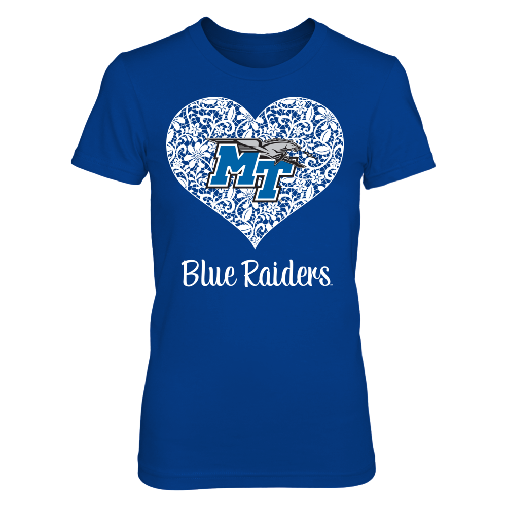Lace Heart - Middle Tennessee State Blue Raiders Front picture