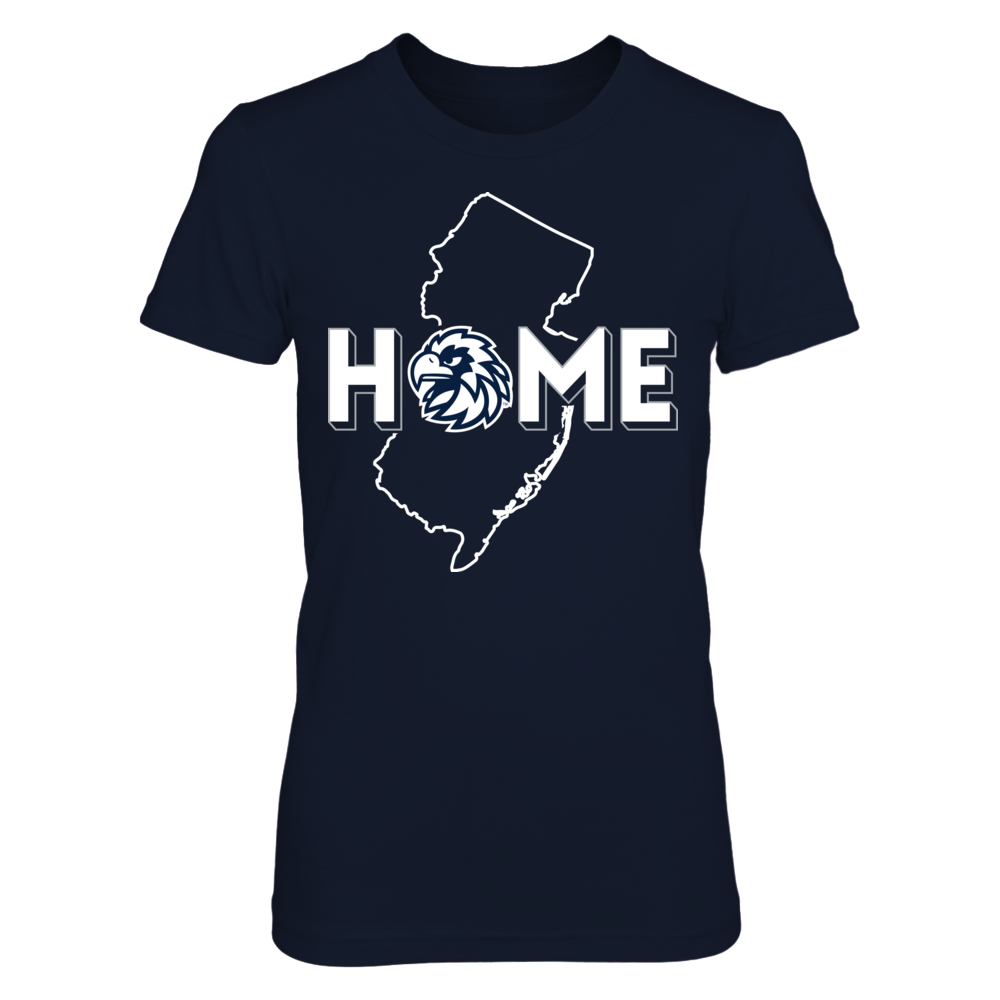 Home With State Outline - Monmouth Hawks Front picture