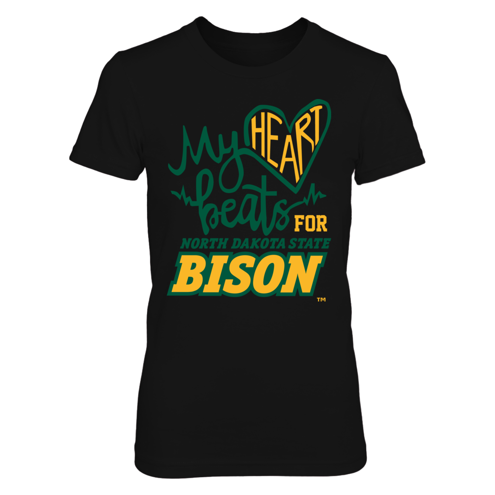 My beats heart for North Dakota State Bison Front picture