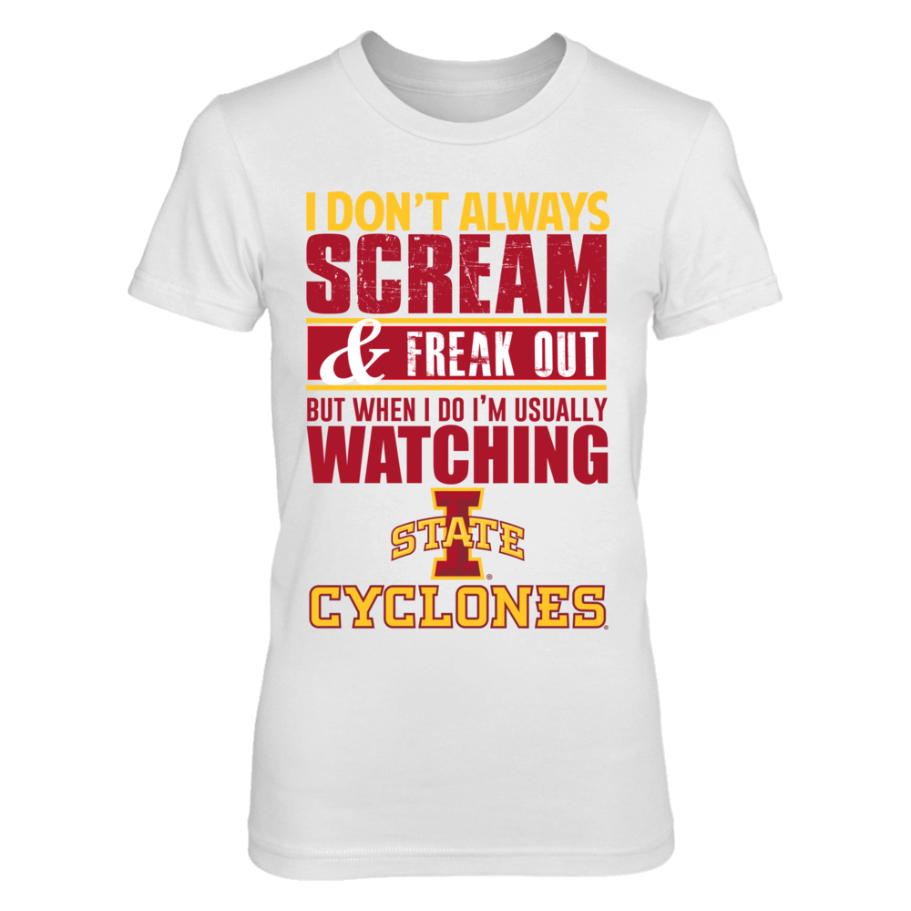 IOWA STATE SCREAM SHIRTS - OFFICIALLY LICENSED Front picture