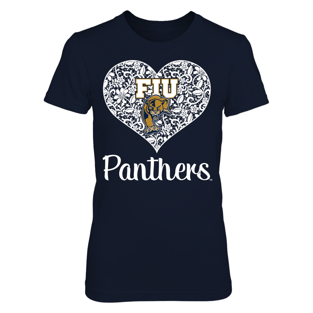 Florida International Panthers - Lace Heart Logo Front picture