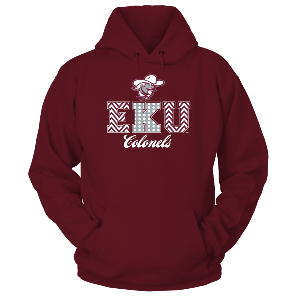Eastern Kentucky Colonels - Patterned Letters Front picture