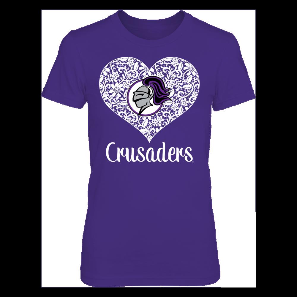 Holy Cross Crusaders Holy Cross Crusaders - Lace Heart Logo FanPrint