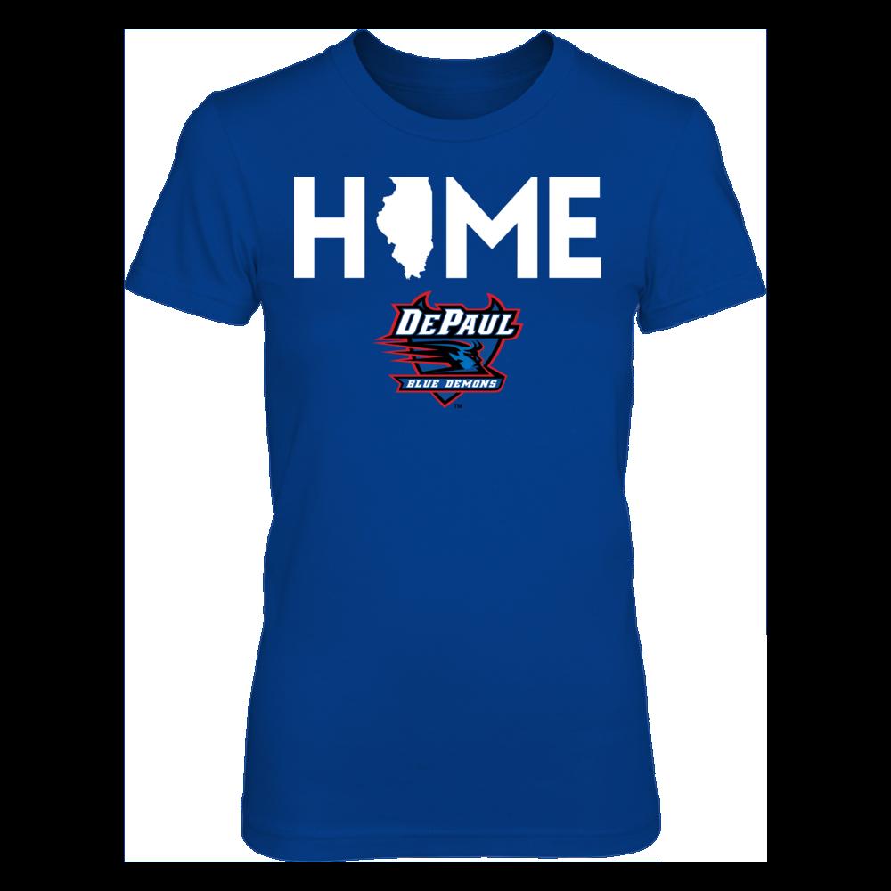 DePaul Blue Demons DePaul Blue Demons - Home With State Outline FanPrint