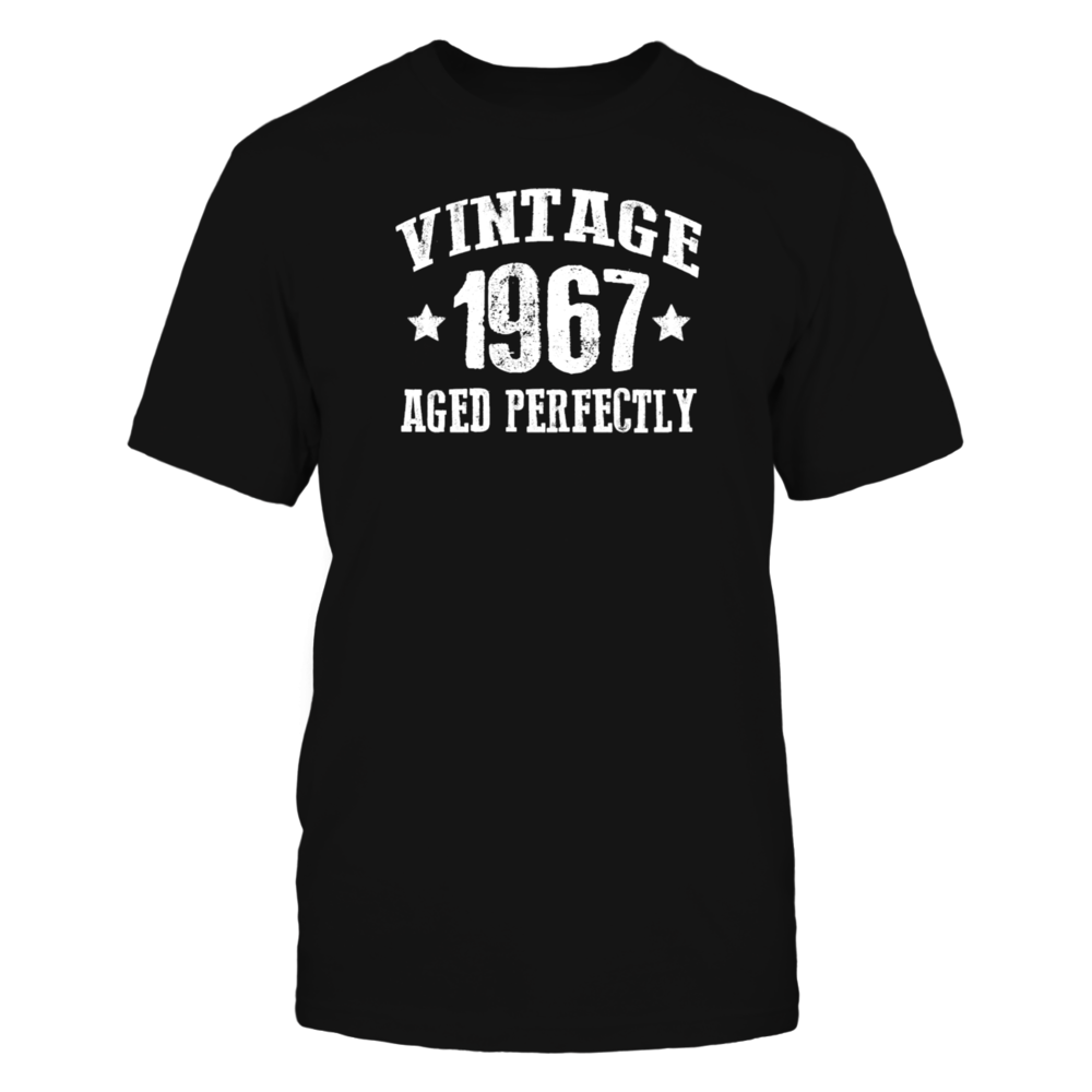 Vintage 1967 Aged Perfectly Womens Vintage Sport  T Shirts Front picture