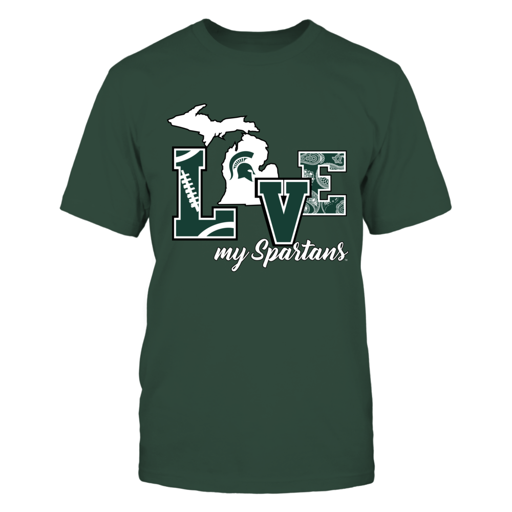 Michigan State Spartans - Love My Spartans Front picture
