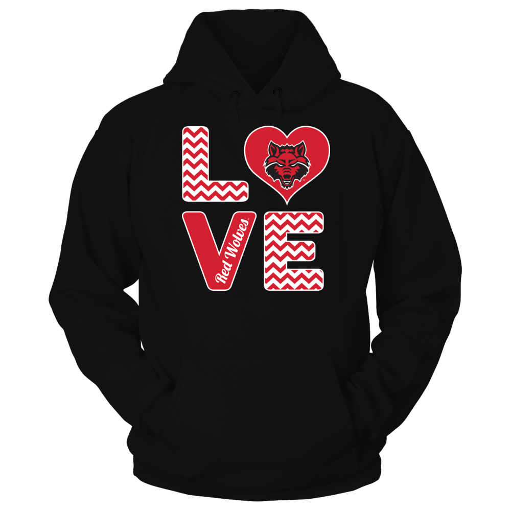 Arkansas State Red Wolves Arkansas State Red Wolves - Stacked Love FanPrint