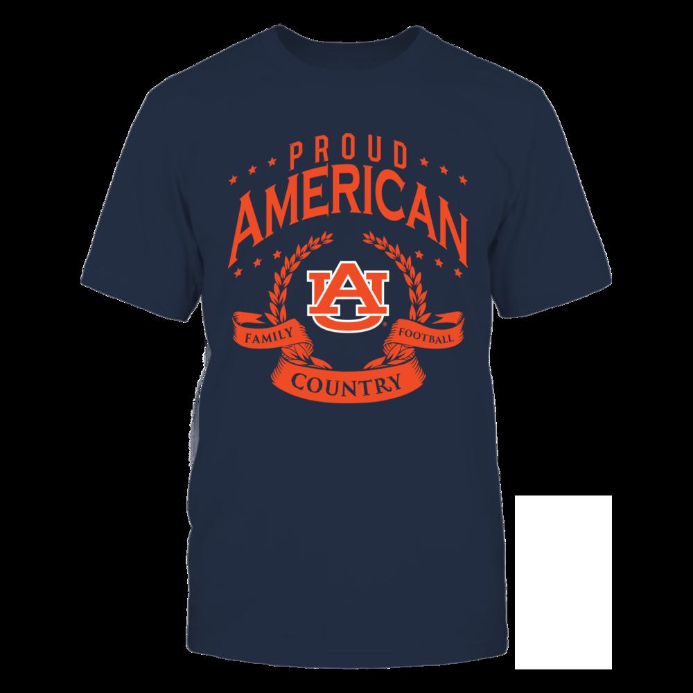Auburn Tigers Proud American Auburn FanPrint