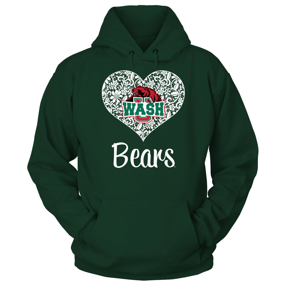 WUSTL Bears - Lace Heart Logo Front picture