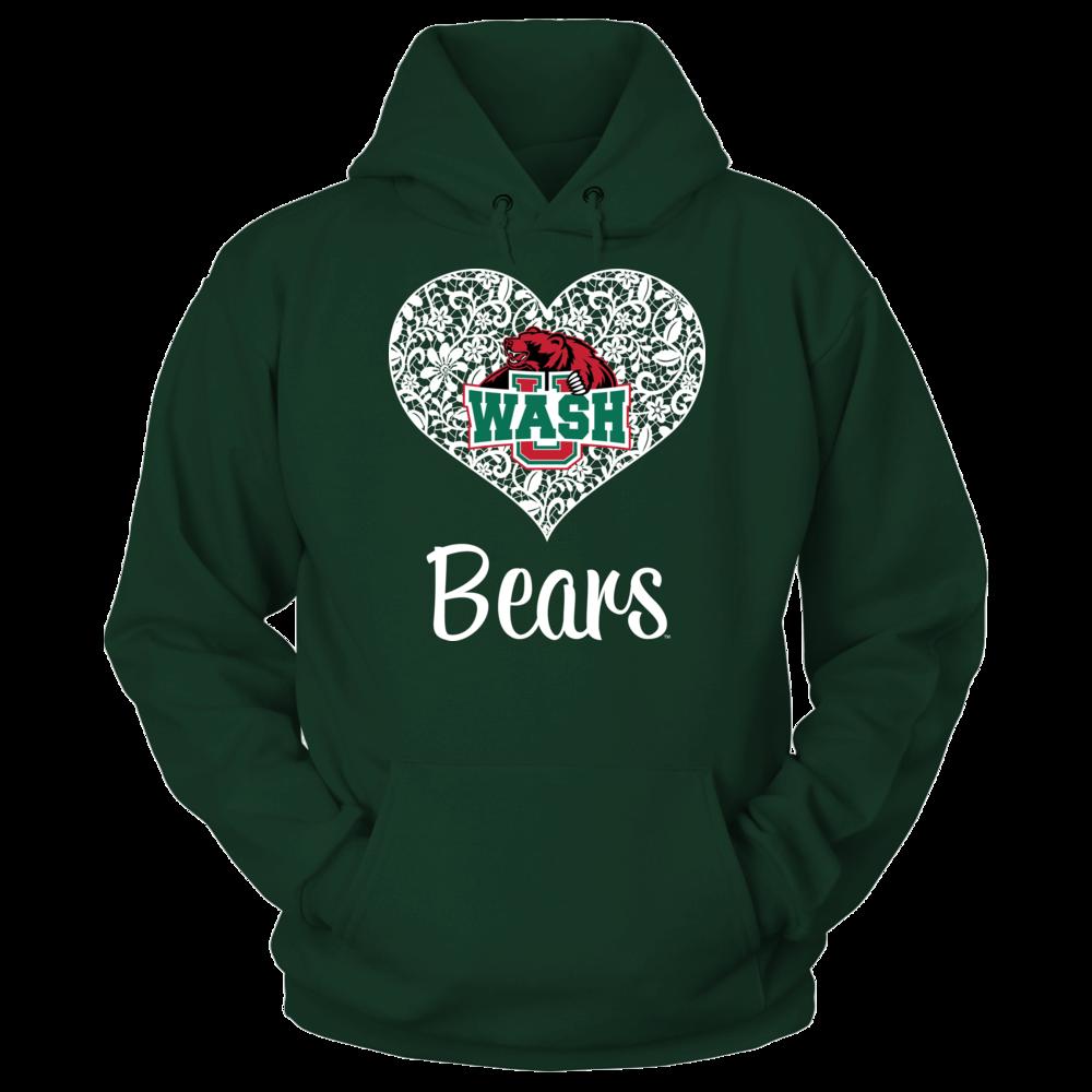 WUSTL Bears WUSTL Bears - Lace Heart Logo FanPrint