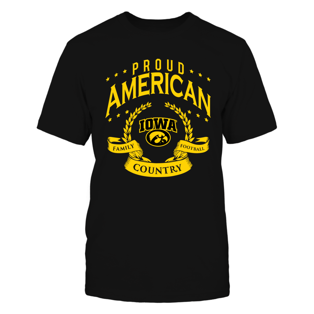 Proud American Iowa Hawkeyes Front picture