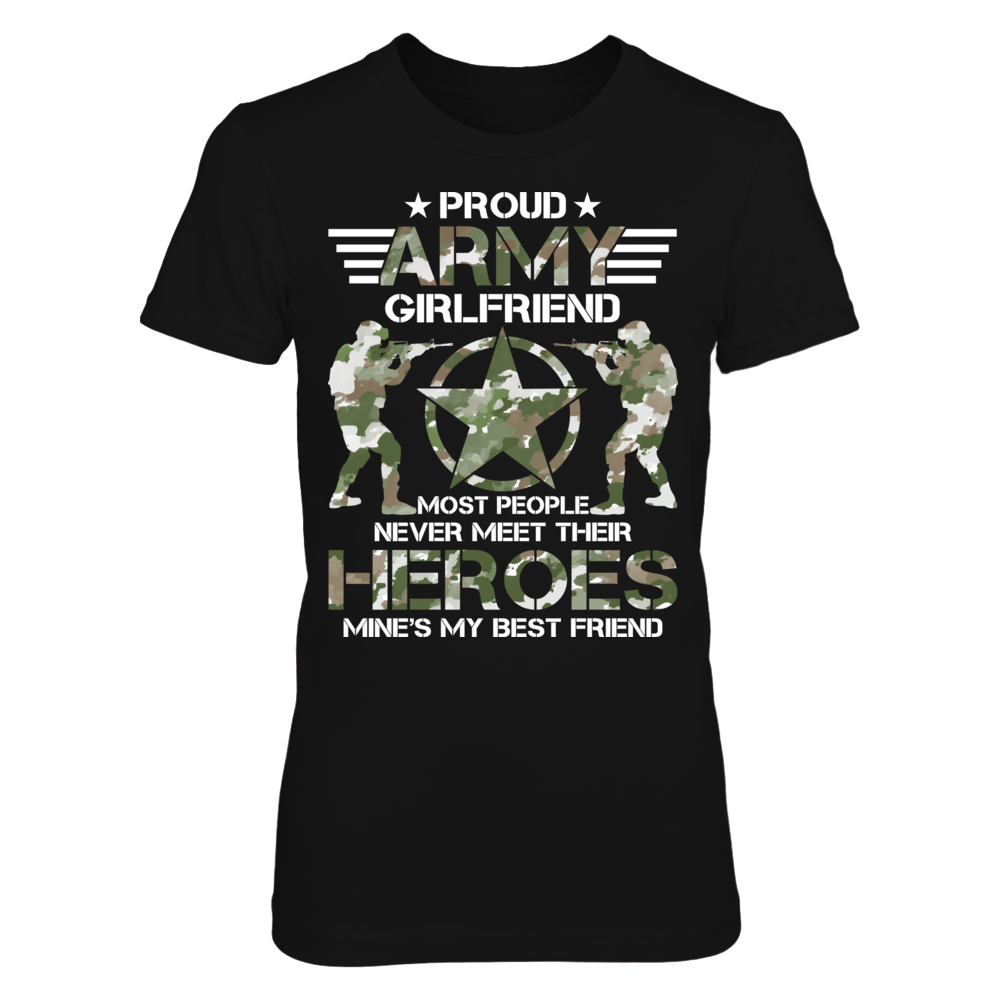 TShirt Hoodie Proud Army Girlfriend FanPrint