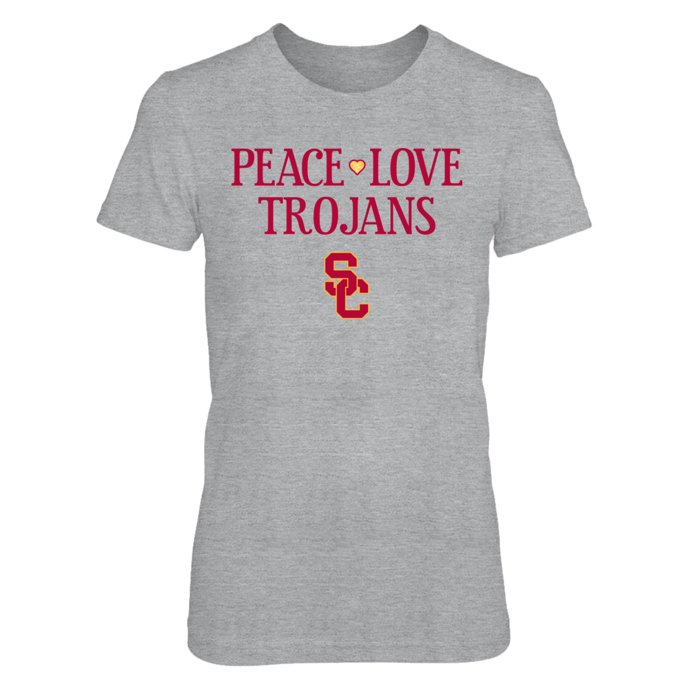 Peace Love Trojans - Officially Licensed USC Trojans T-Shirt / Hoodie / Tank Front picture