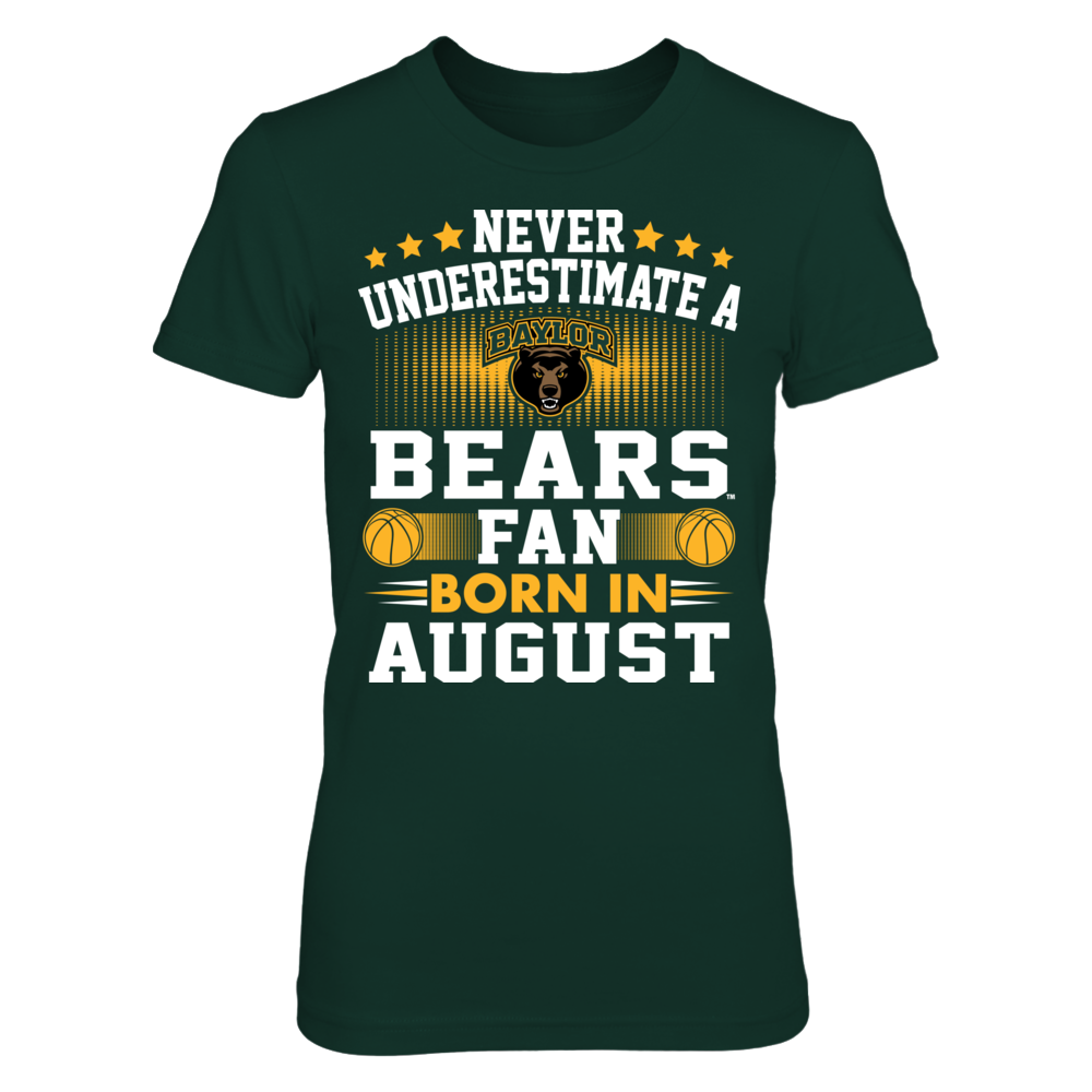 [duplicate] Baylor Bears - Fan Born In August Front picture