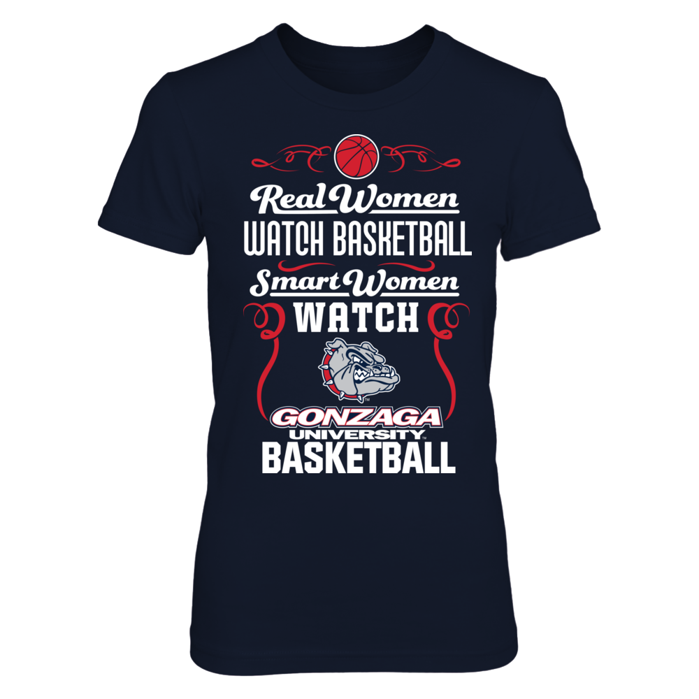 Gonzaga Bulldogs - Real Women Smart Women Basketball Front picture