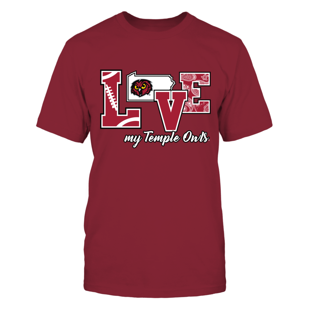 Temple Owls - Love My Temple Owls Front picture