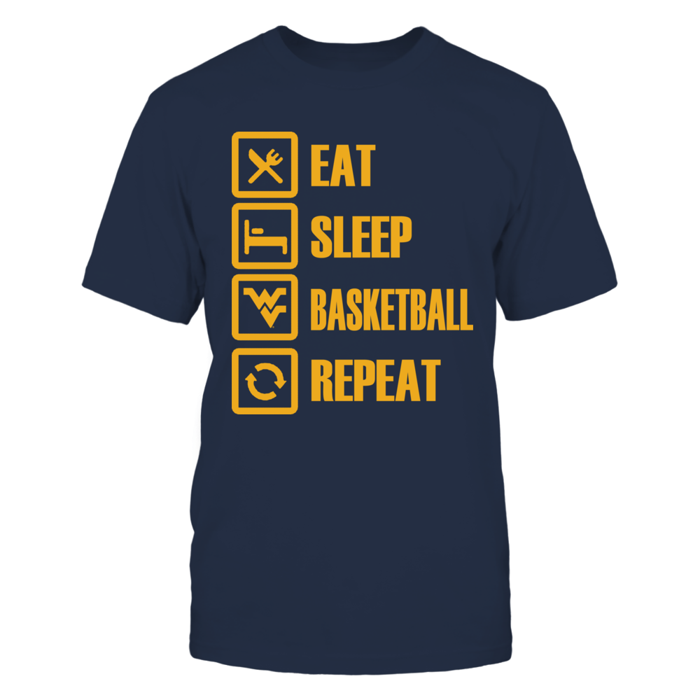 Eat Sleep West Virginia Basketball Repeat Front picture