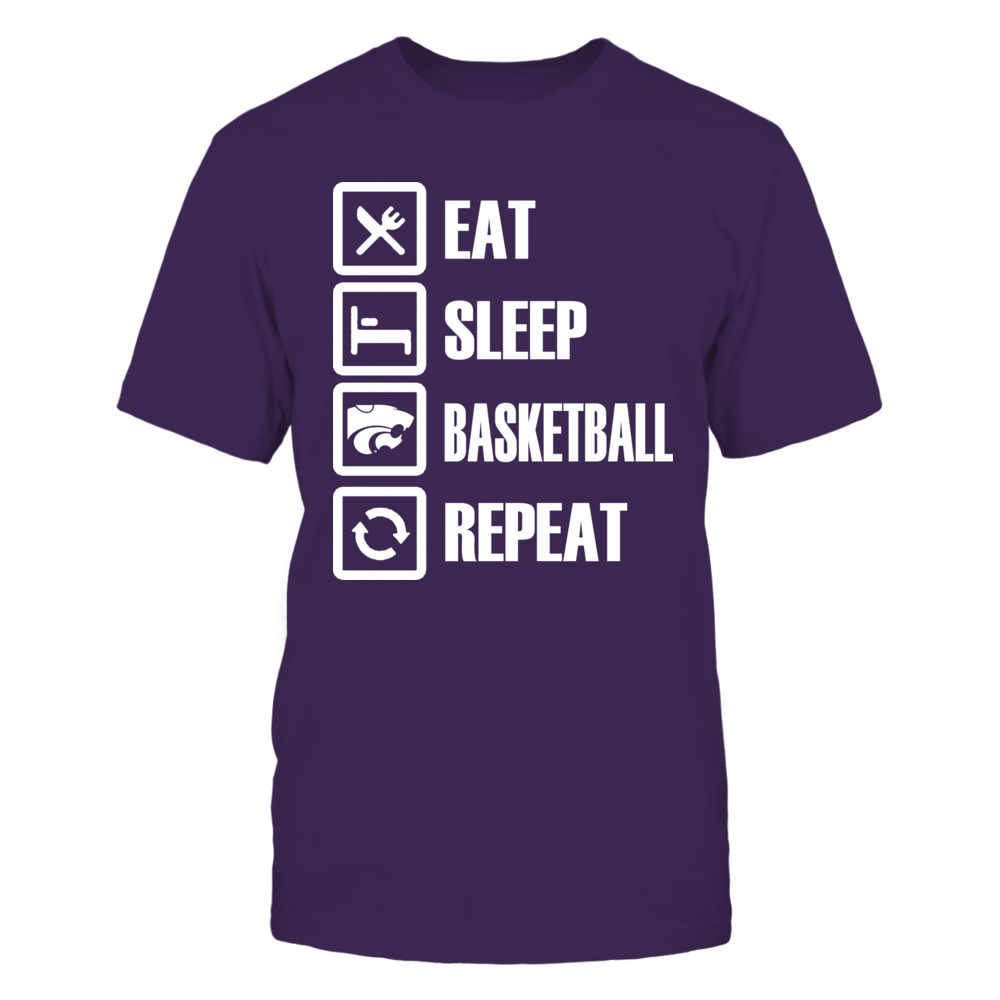 Eat Sleep K-State Basketball Repeat Front picture