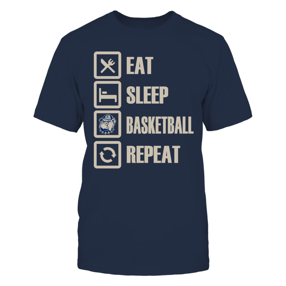 Georgetown Hoyas Eat Sleep Georgetown Basketball Repeat FanPrint