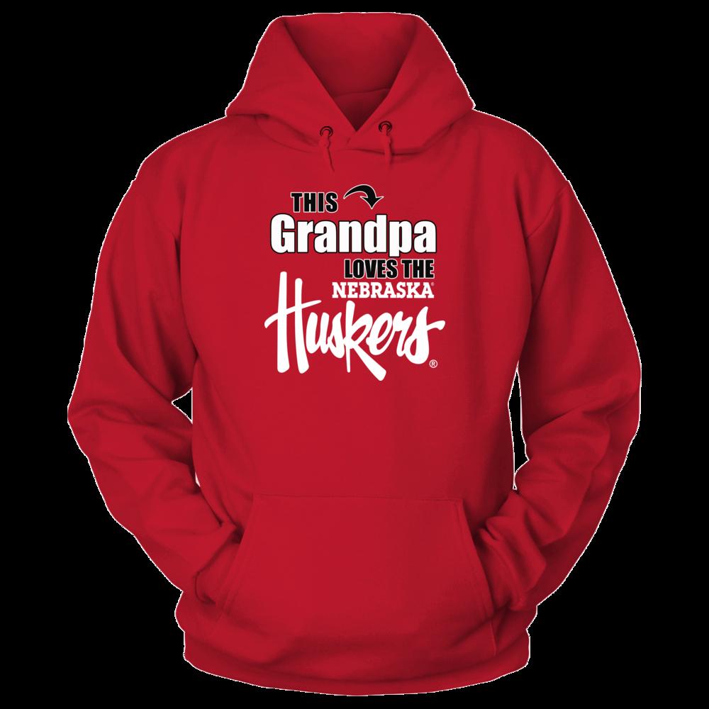 Nebraska Cornhuskers University of Nebraska Cornhusker Apparel - Nebraska Grandpa Shirt FanPrint