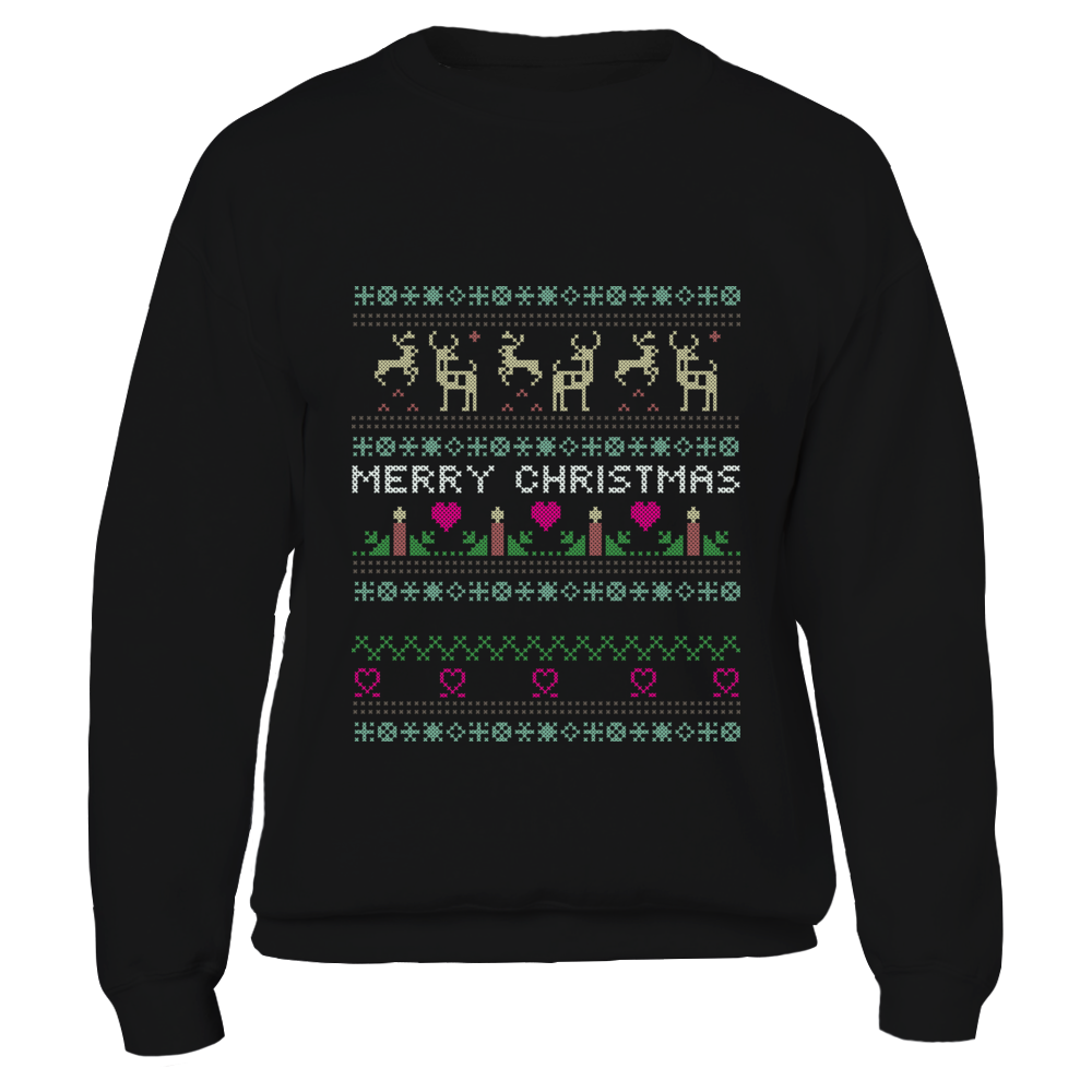 TShirt Hoodie Unisex Funny Print Ugly Christmas Sweater Jumper FanPrint