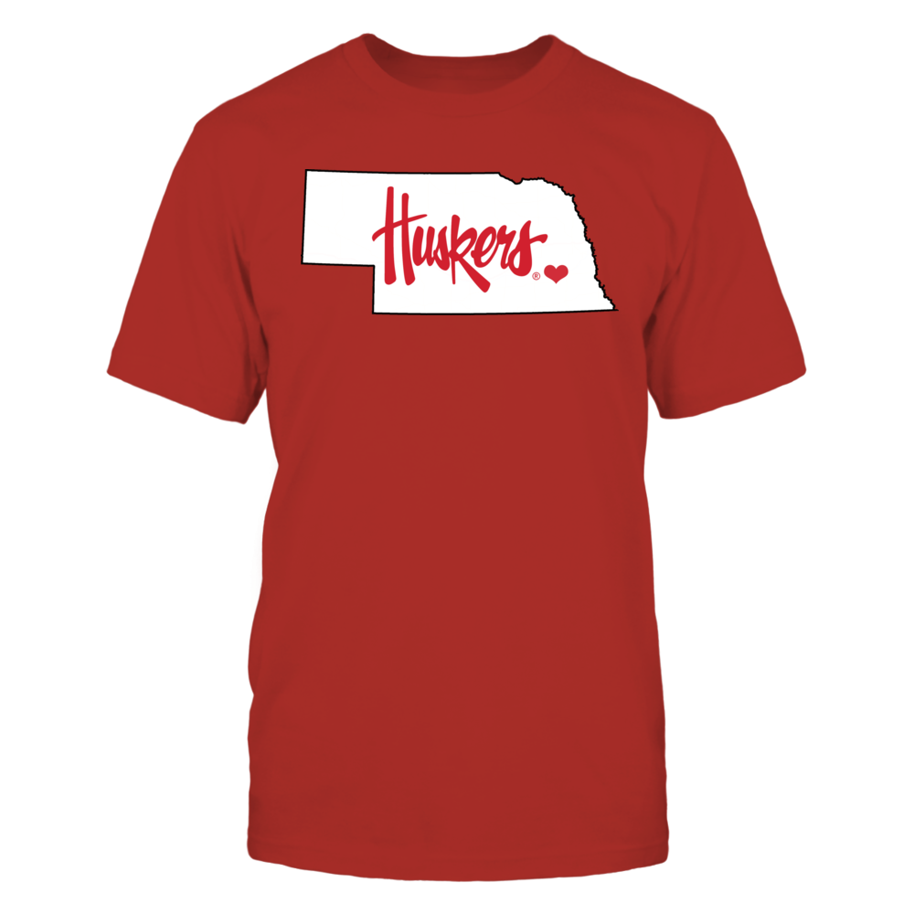 Nebraska Cornhuskers University of Nebraska Gear - Heart the Huskers FanPrint
