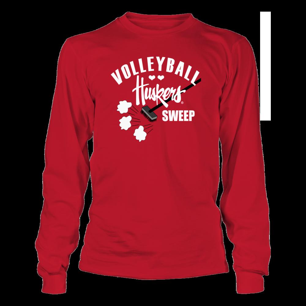 Nebraska Cornhuskers University Nebraska Volleyball - Voleyball Sweep FanPrint