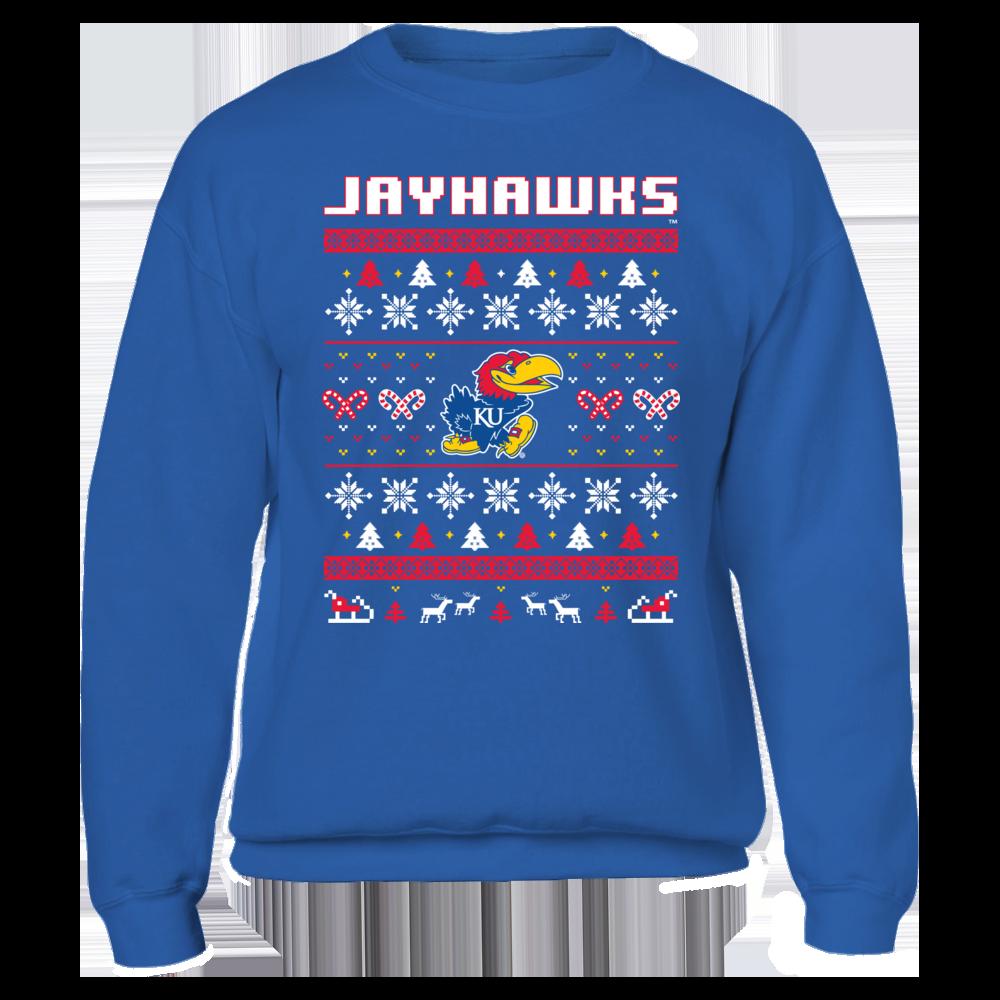 Kansas Jayhawks UGLY CHRISTMAS SWEATER DESIGN - KANSAS JAYHAWKS FanPrint