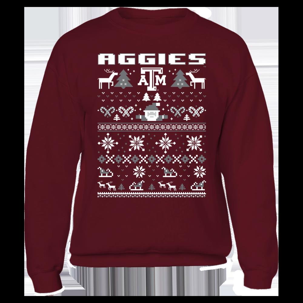 Texas A&M Aggies UGLY CHRISTMAS SWEATER DESIGN - TEXAS A&M AGGIES FanPrint