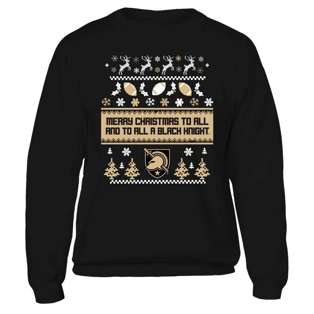 Army Black Knights UGLY CHRISTMAS SWEATER DESIGN - ARMY BLACK NIGHTS FanPrint