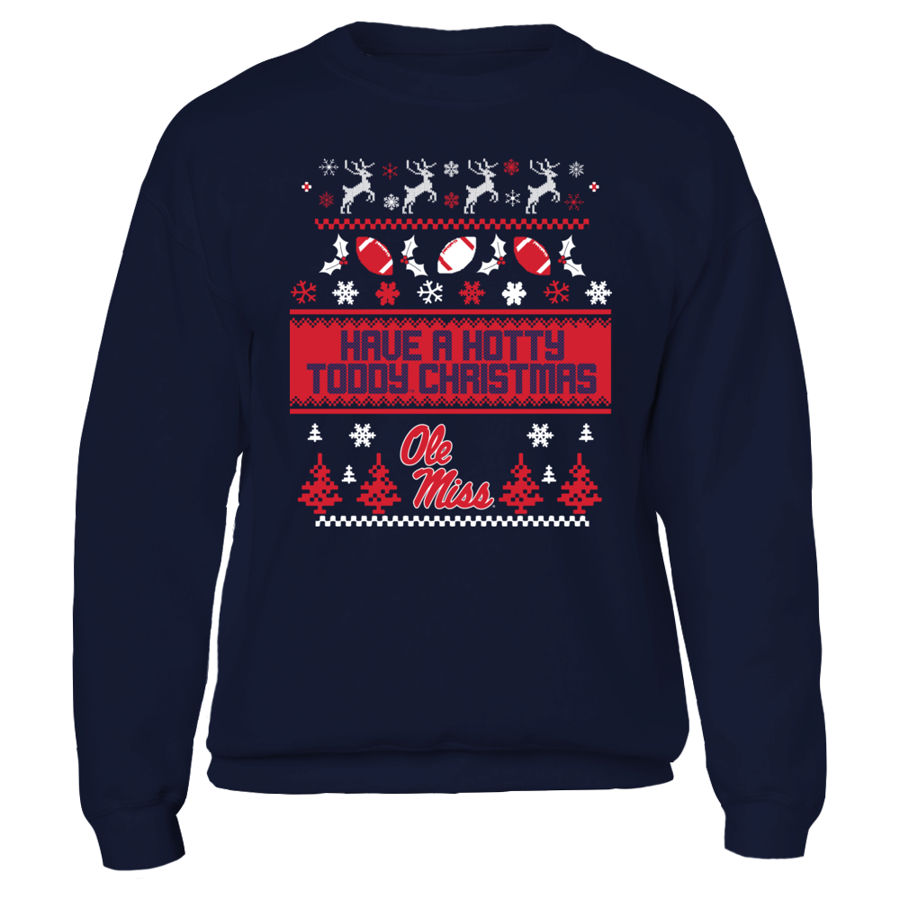Ole Miss Rebels UGLY CHRISTMAS SWEATER DESIGN - OLE MISS REBELS FanPrint