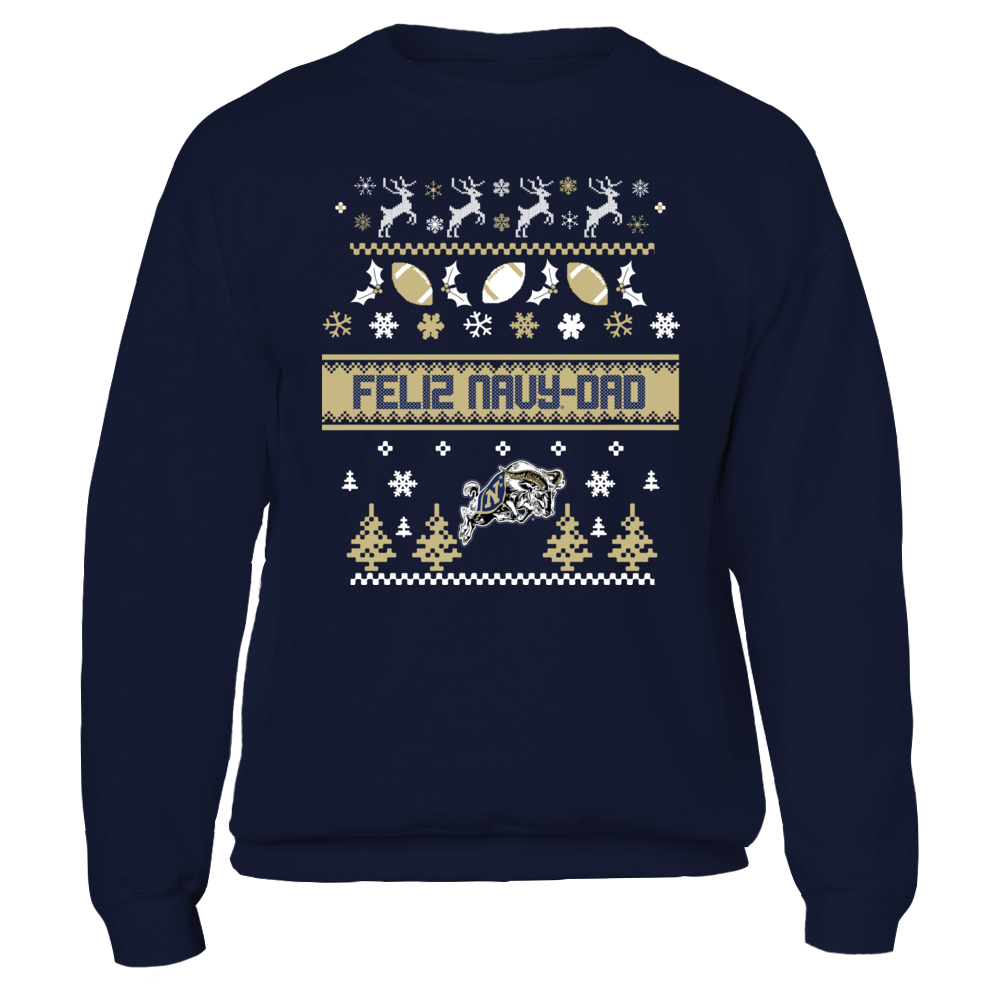 UGLY CHRISTMAS SWEATER DESIGN - NAVY MIDSHIPMEN Front picture