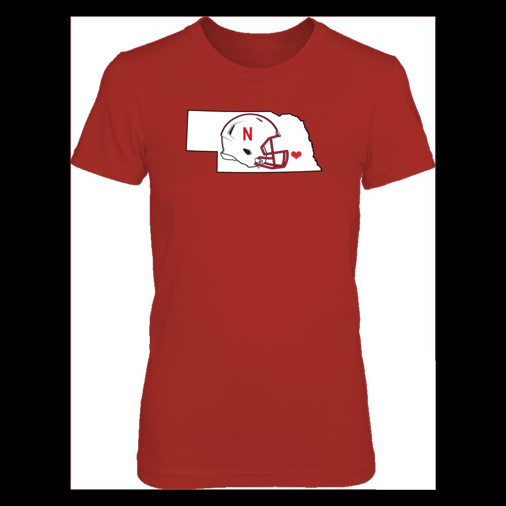 University of Nebraska Gear - Husker Football in Nebraska Shirt Front picture