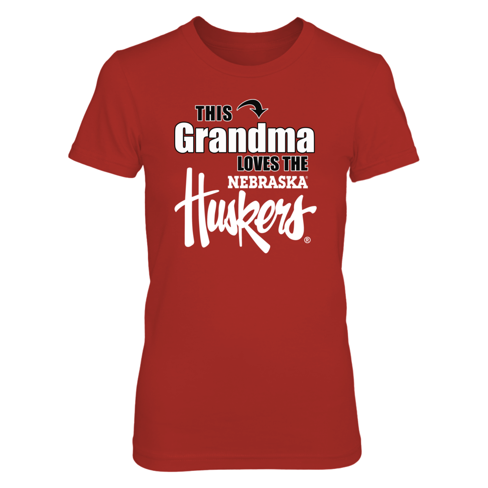 Husker Shirts for Women - This Grandma Loves the Nebraska Huskers Front picture