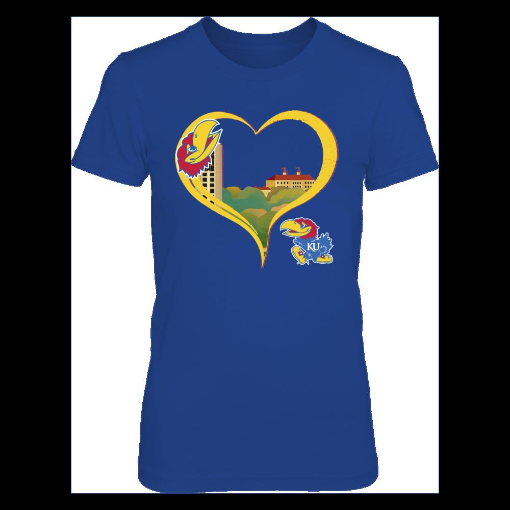 Kansas Jayhawks - Heart Town Front picture