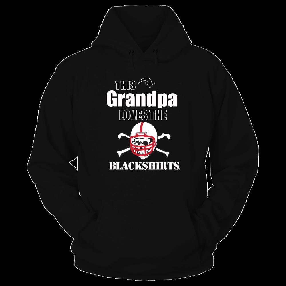 Nebraska Blackshirt Fan - Husker Grandpa Shirt Front picture