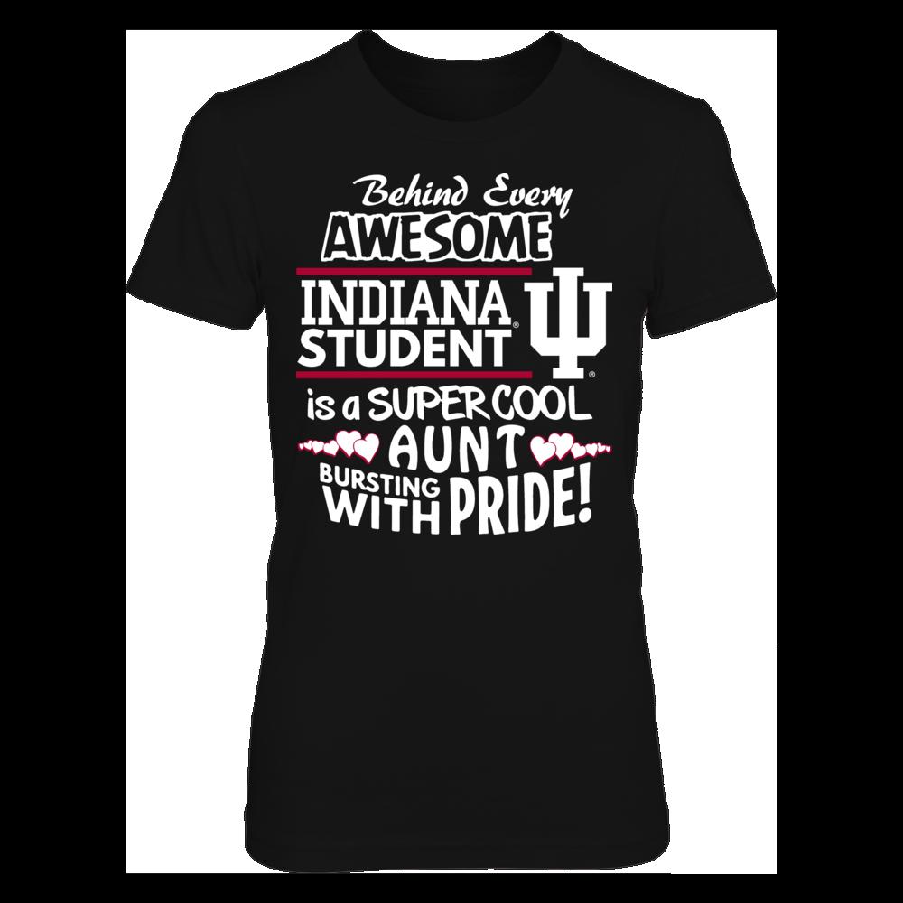Indiana Hoosiers Indiana University Super Cool Aunt FanPrint