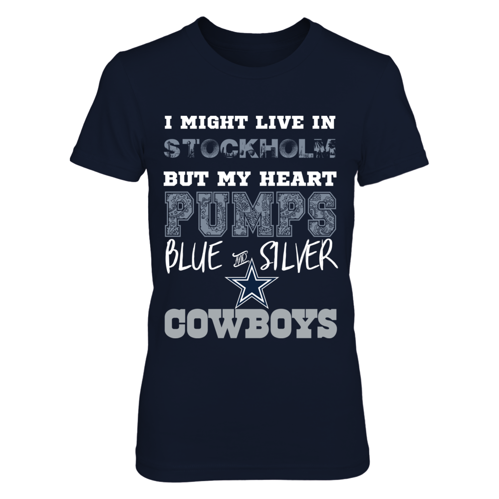 Dallas Cowboys [duplicate] Dallas Cowboys Heart Pumps Stockholm Shirt FanPrint