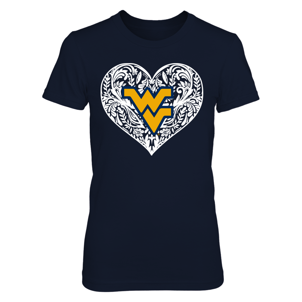 West Virginia Mountaineers - Lace Heart Front picture