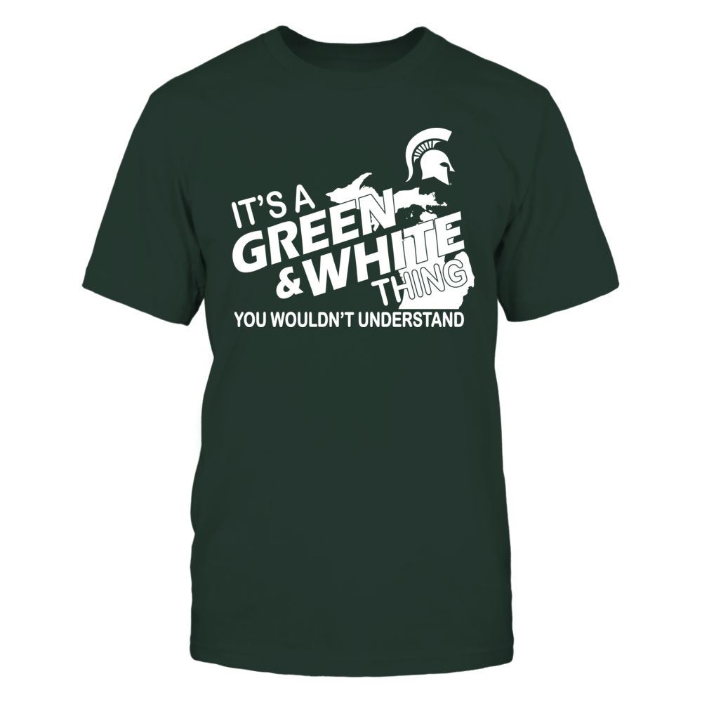 Michigan State Spartans It's A Green & White Thing! FanPrint