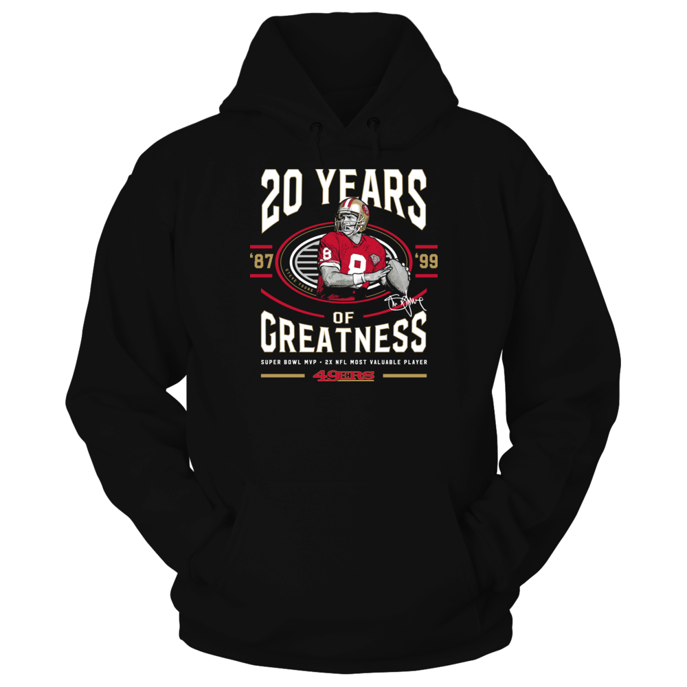 San Francisco 49ers Steve Young - 20 Years Of Greatness FanPrint