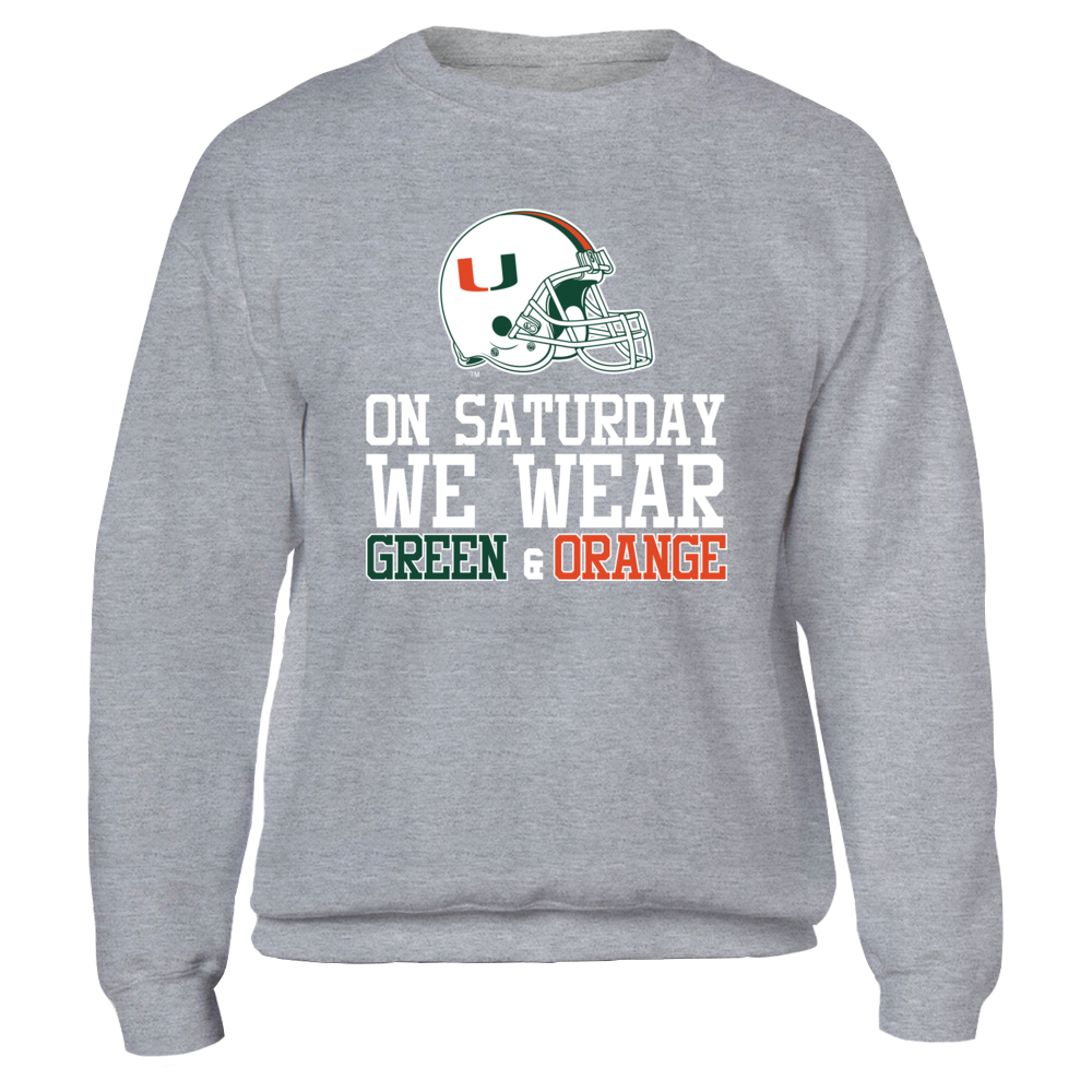 Miami Hurricanes - On Saturday We Wear Green and Orange Front picture
