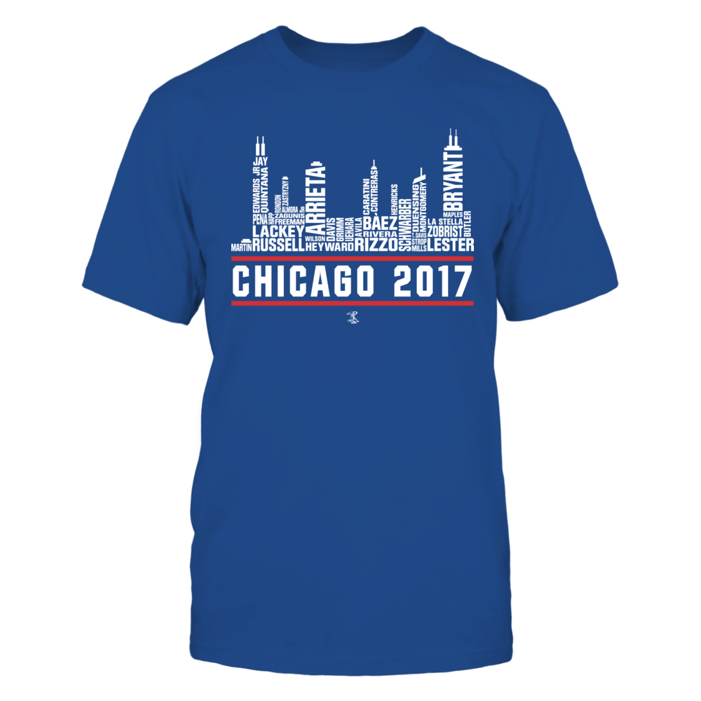 Jake Arrieta Jake Arrieta - 2017 Chicago Skyline Team Roster FanPrint