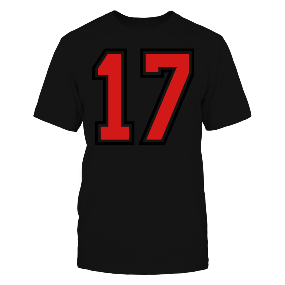 TShirt Hoodie 17 sports jersey football number T-Shirt FanPrint