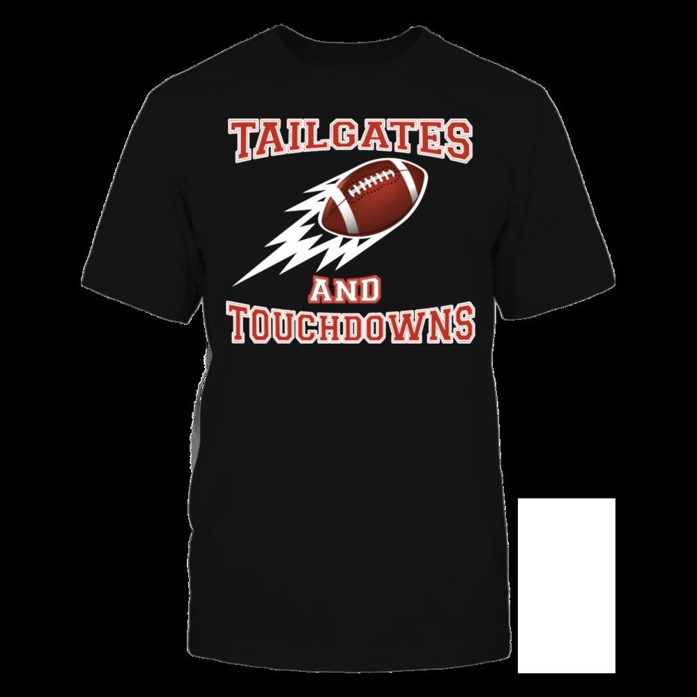TShirt Hoodie Tailgates and Touchdowns Thanksgiving Football T-Shirt FanPrint