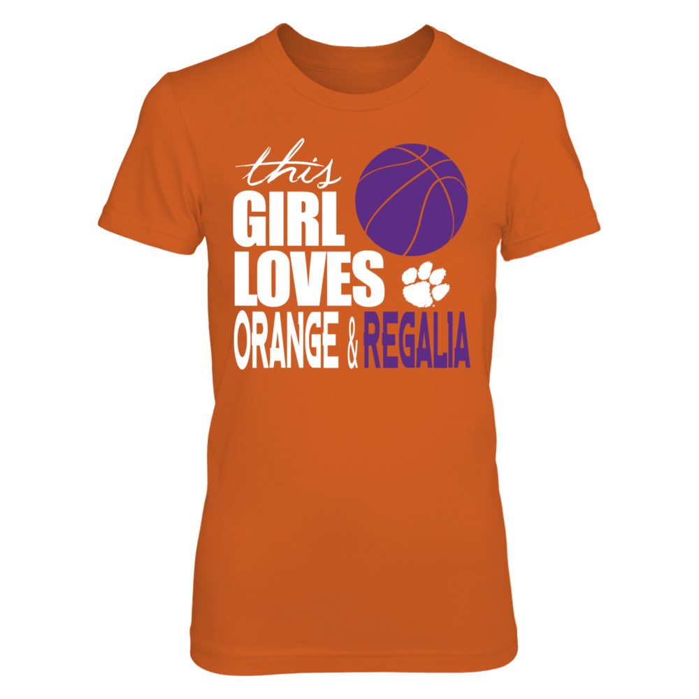 Clemson Tigers This Girl Loves Orange & Regalia FanPrint