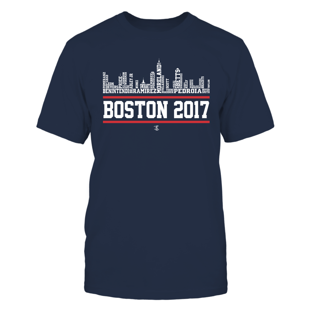 Dustin Pedroia Dustin Pedroia - 2017 Boston Skyline Team Roster FanPrint