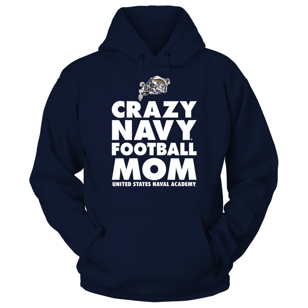 Navy Midshipmen - Crazy Navy Football Mom Front picture