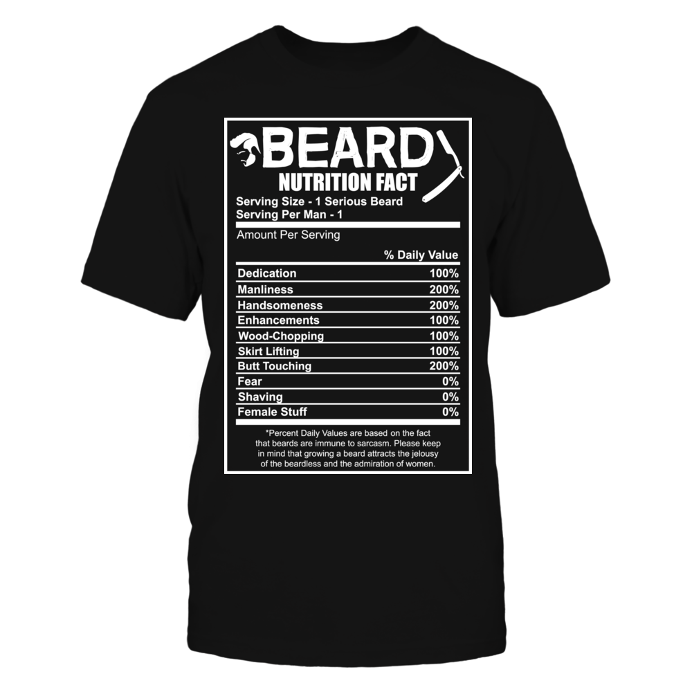 TShirt Hoodie BEARD NUTRITION FACT FanPrint