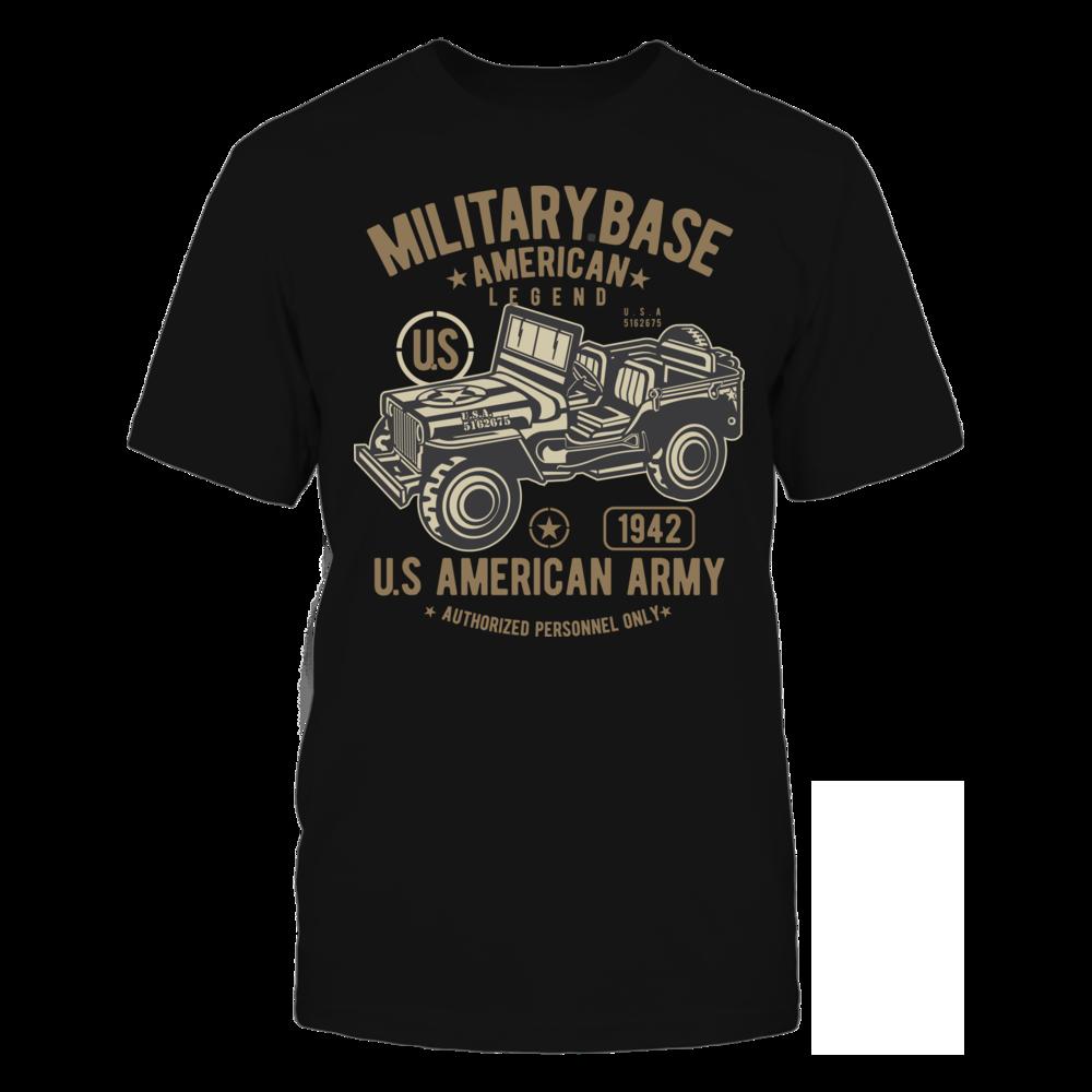 TShirt Hoodie American Army Jeep2 - Black FanPrint
